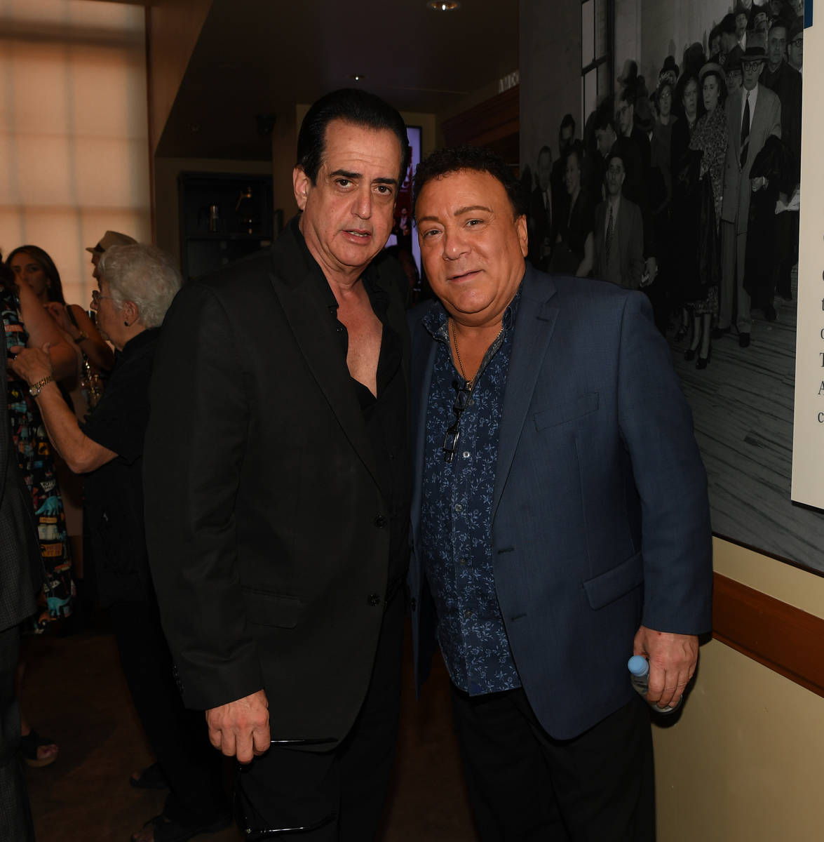 Actor Frank Vallelongo and entertainer Frankie Scinta attend the world premiere of feature film ...