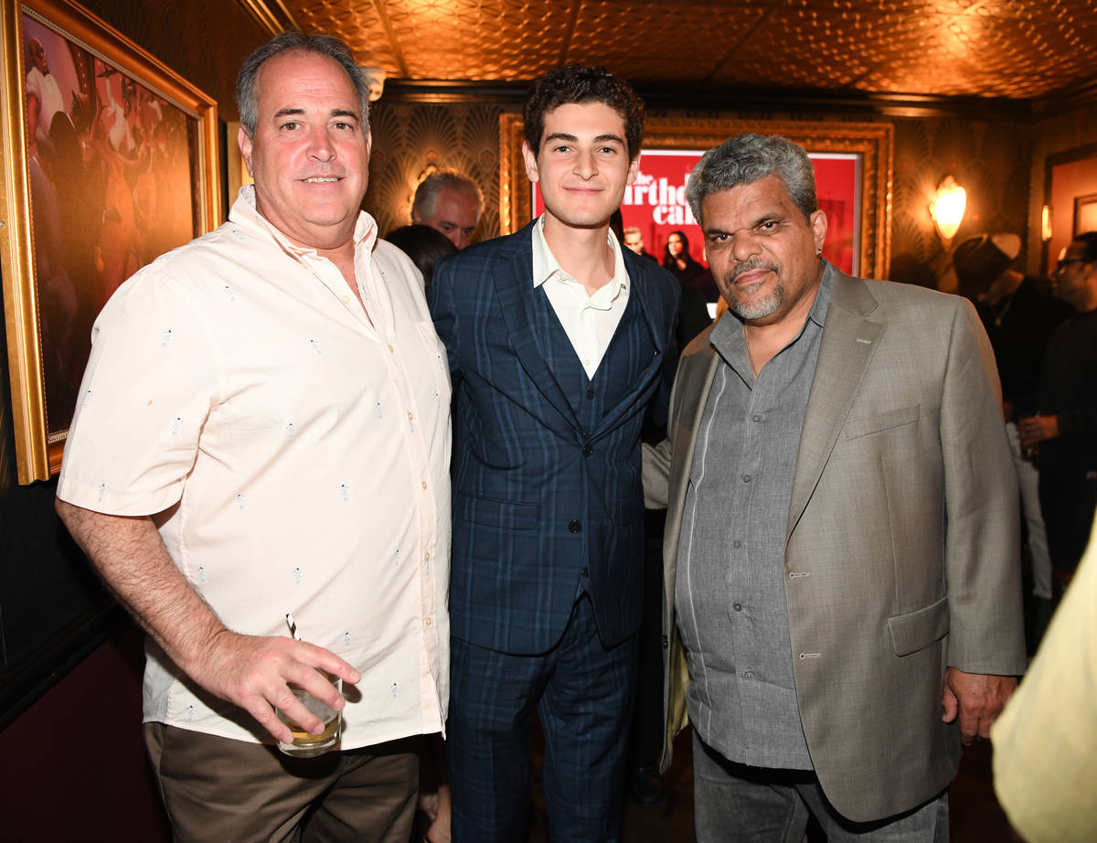 """Actor David Mazouz (C) and actor Luis Guzman (R) attend the world premiere of feature film """"The ..."""