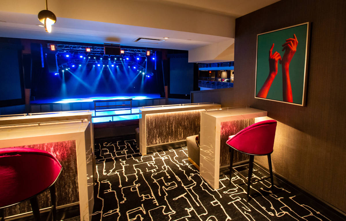A look at a suite at The Theater at Virgin Hotels Las Vegas. (Andrew Miller)