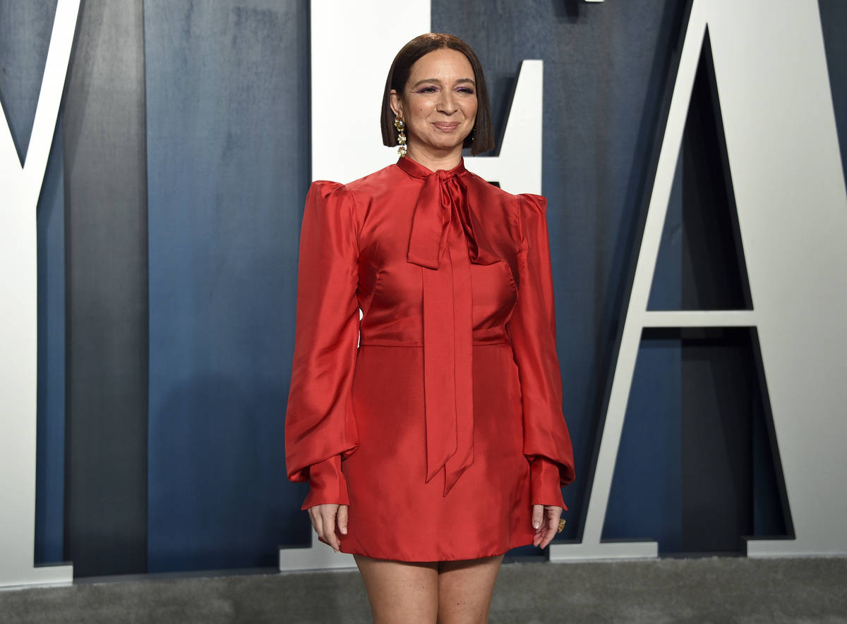 Maya Rudolph arrives at the Vanity Fair Oscar Party on Sunday, Feb. 9, 2020, in Beverly Hills, ...