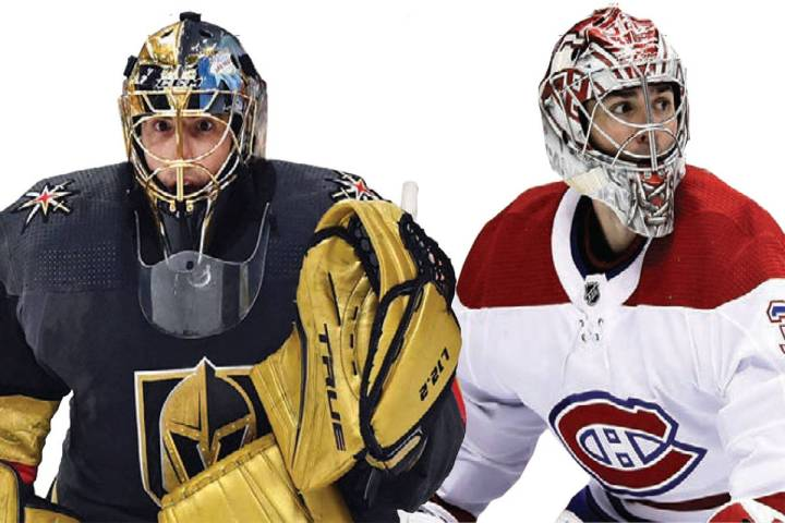 Marc-Andre Fleury, left, Carey Price, right.