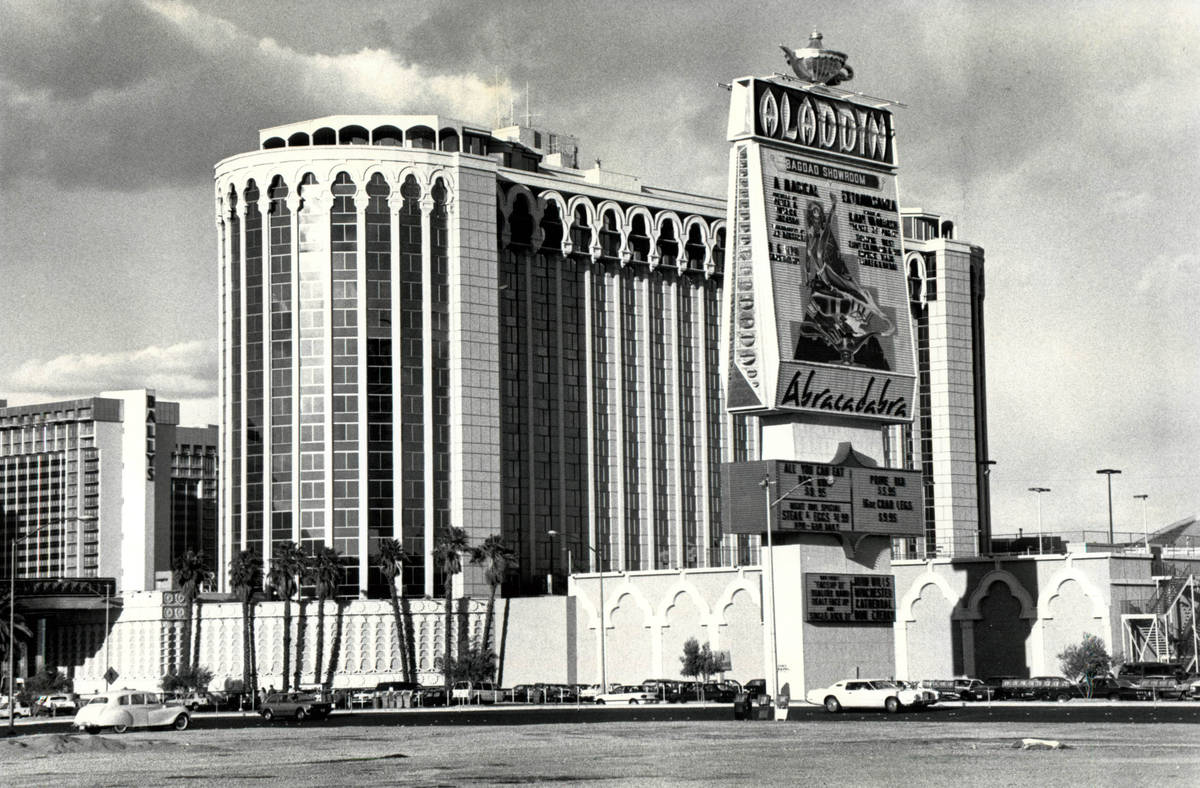 Aladdin Hotel and Casino pictured on Jan.5, 1993, in Las Vegas. (Review-Journal file)