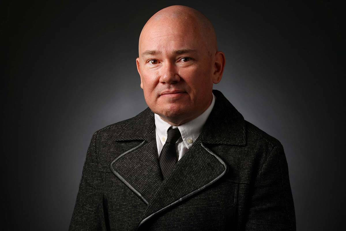 Chris Lawrence, columnist, poses for a portrait at the Las Vegas Review-Journal photos studio, ...