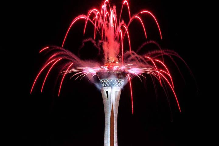 The Strat announced Tuesday that it would have a fireworks display on the Fourth of July. (Las ...