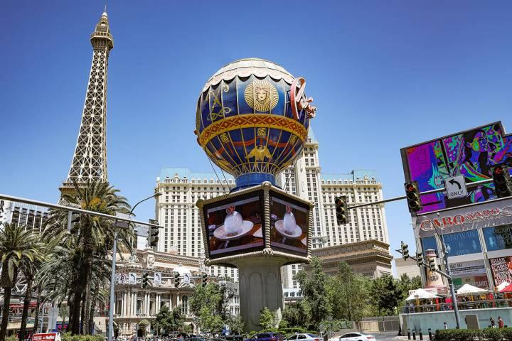 Paris Las Vegas on the Strip in Las Vegas, Monday, May 3, 2021. (Rachel Aston/Las Vegas Review- ...