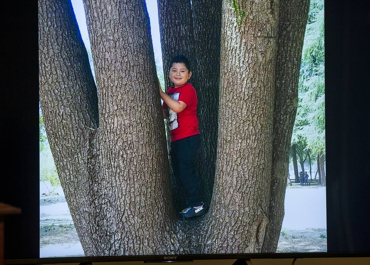 Police photo of Liam Husted identified as the unidentified slain boy at Metro Headquarters on M ...