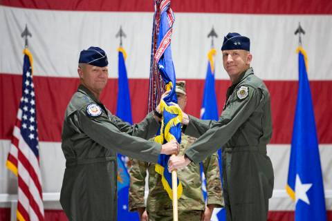 General Mark Kelly hands over command of the United States Air Force Warfare Center to Maj. Gen ...