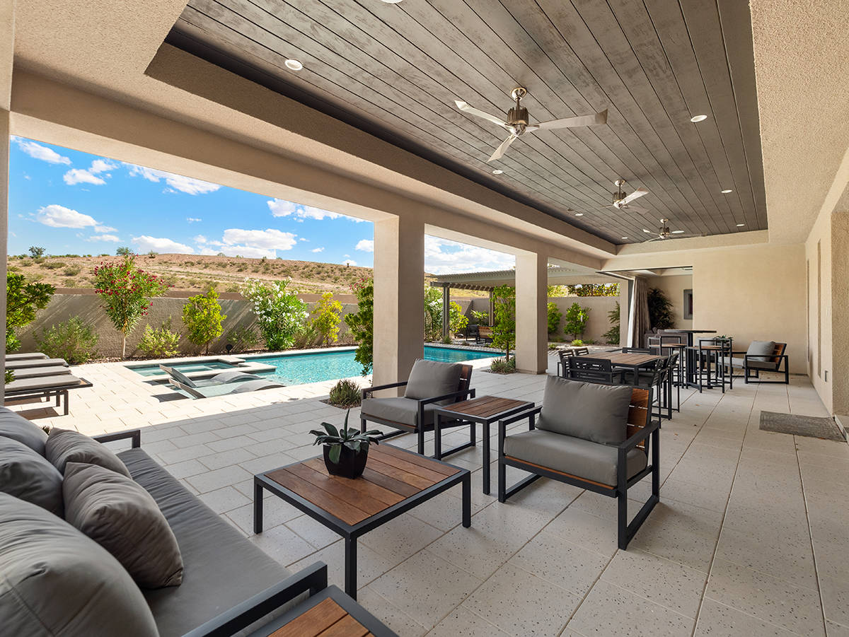 The view from the backyard of a home owned by rocker Carlos Santana and for sale in The Ridges. ...