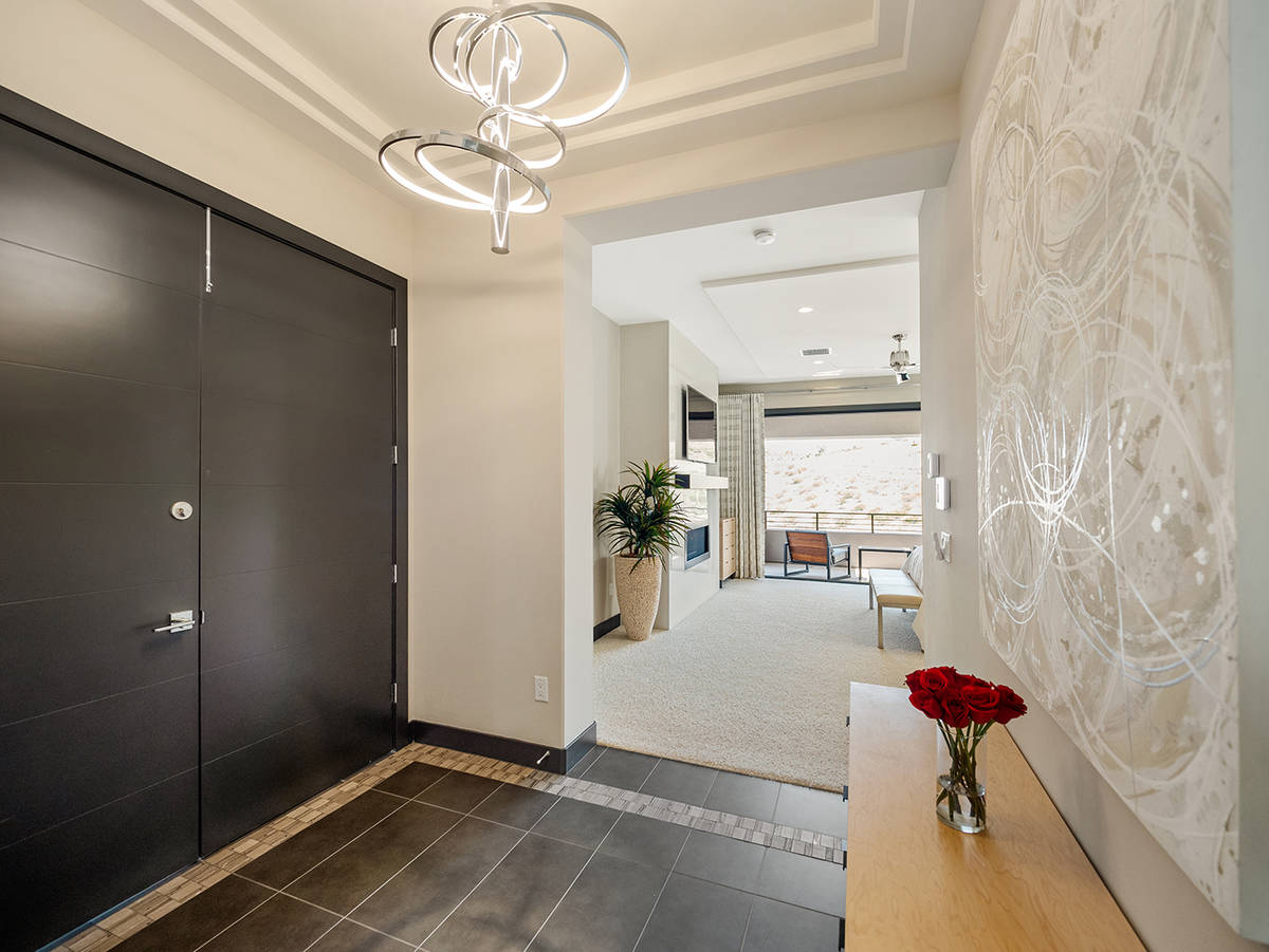 The master suite leads to a private balcony. (LVREAL)