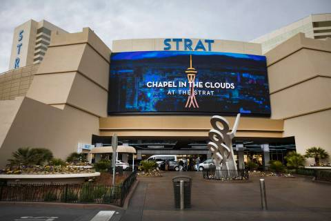 The Strat in Las Vegas, Monday, Jan. 20, 2020. The Strat recently rebranded itself and underwen ...