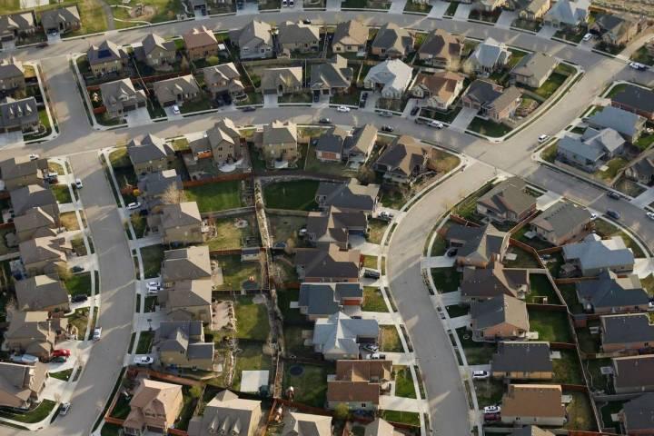 Homes are seen in suburban Salt Lake City in 2019. (AP Photo/Rick Bowmer)