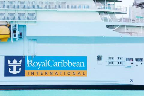 Royal Caribbean International cruise ship is docked at PortMiami in March 2020. (AP Photo/Brynn ...