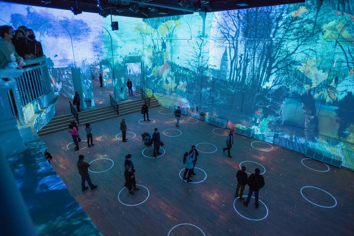 "A look at ""Immersive Van Gogh,"" opening in Las Vegas on July 1. (Michael Brosilow)"