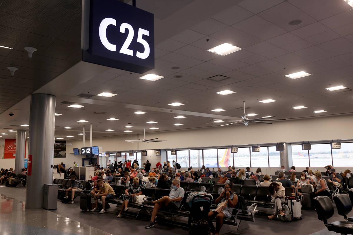The renovated C Concourse at Terminal 1 in McCarran International Airport in Las Vegas Wednesda ...