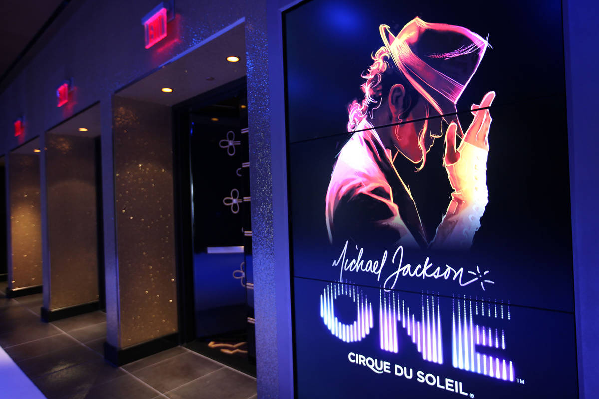 The entry leading into Cirque du Soleil's Michael Jackson One show at Mandalay Bay Resort and C ...