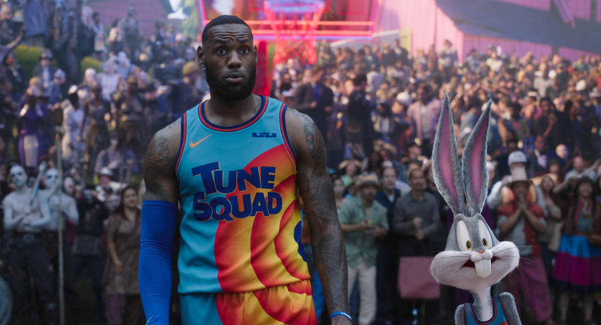"""LEBRON JAMES and BUGS BUNNY in Warner Bros. Pictures' animated/live-action adventure """"SPACE ..."""