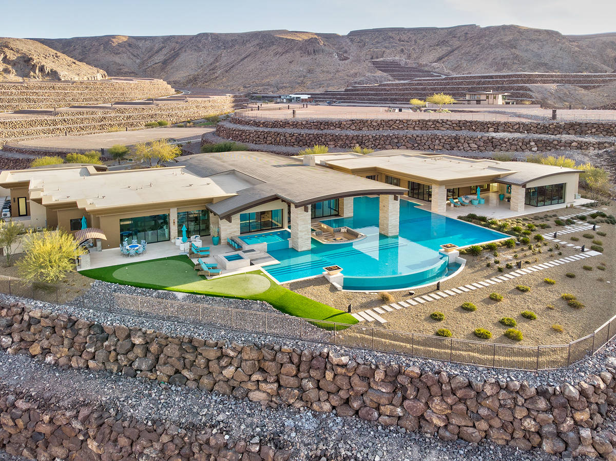 A 12,100-square-foot Ascaya home that features a swimming pool, which measures nearly 6,000 squ ...