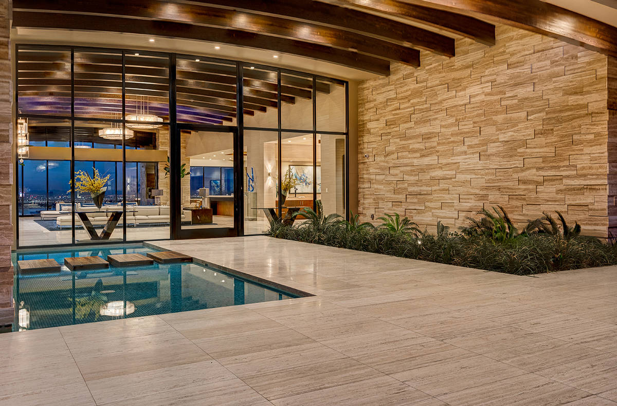 The single-story home was built by Sun West Custom Homes. (Sun West Luxury Realty)