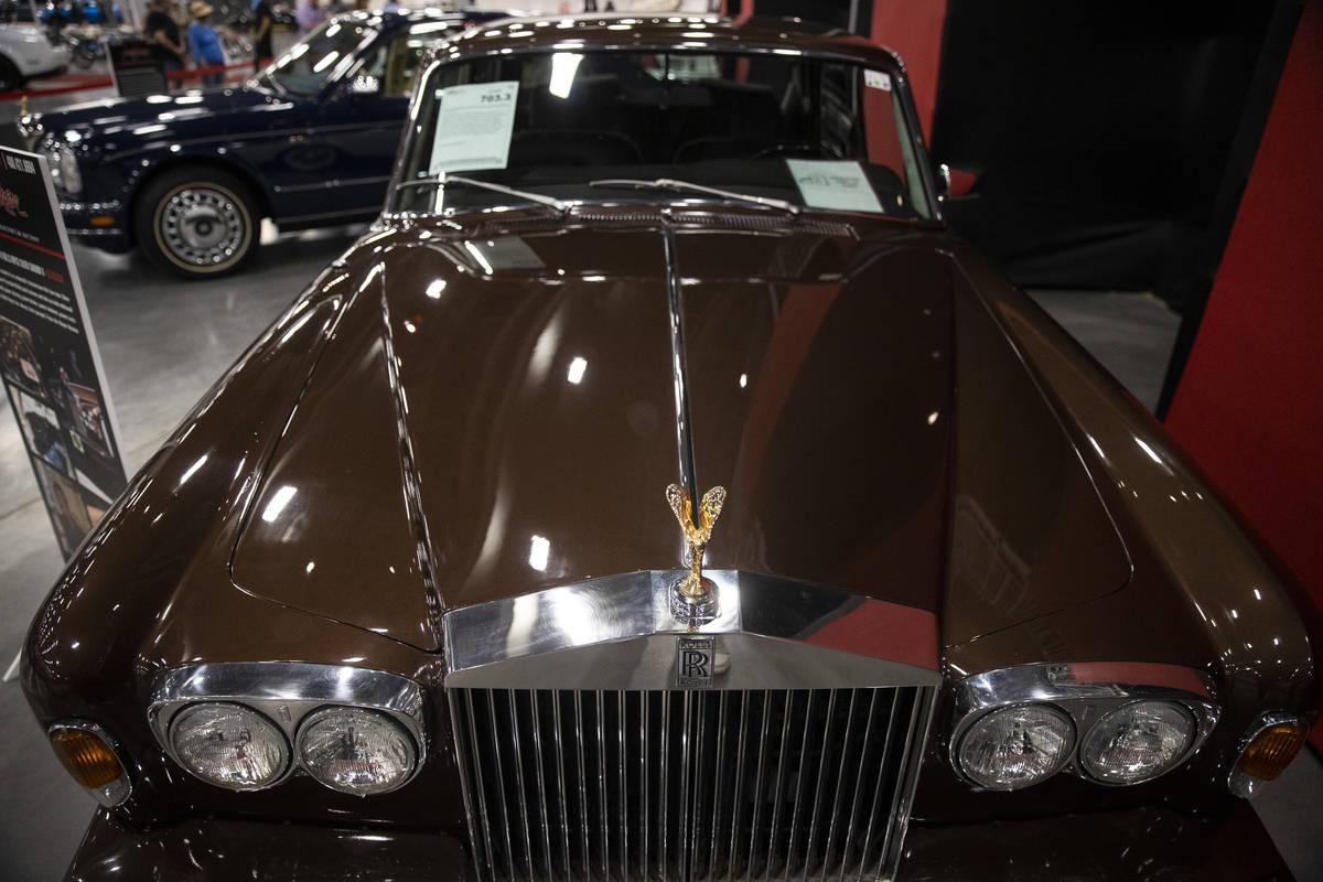 Wayne Newton's 1979 Rolls-Royce Silver Shadow II is showcased in the Barrett-Jackson auction at ...
