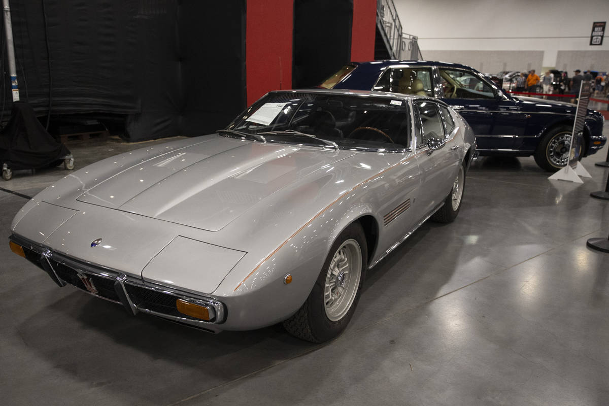 Frank Sinatra's 1970 Maserati Ghibli is showcased in the Barrett-Jackson auction at the Las Veg ...