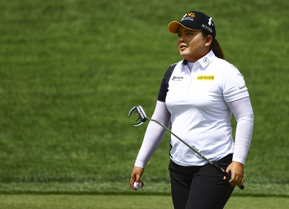 Inbee Park heads to the 13th hole during the first round of the Bank of Hope LPGA Match Play at ...