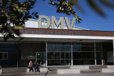 The Nevada Department of Motor Vehicles on East Sahara Avenue in Las Vegas, on Thursday, Jan. 1 ...