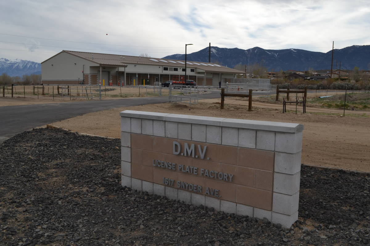 The DMV plate factory located at the Northern Nevada Correctional Center in Carson City. (Court ...