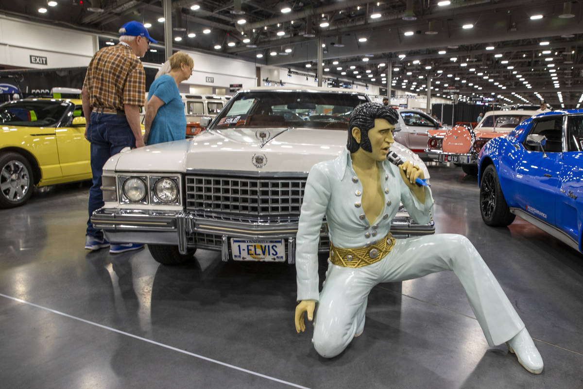 A 1974 Cadillac Fleetwood Brougham purchased by Elvis Presley and presented to his personal psy ...