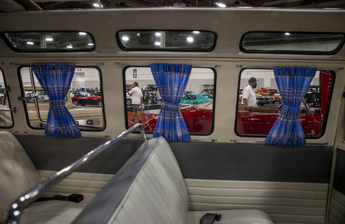 Interior of a 1973 Volkswagen 23-Window Re-Creation Bus for sale during the Barrett-Jackson col ...