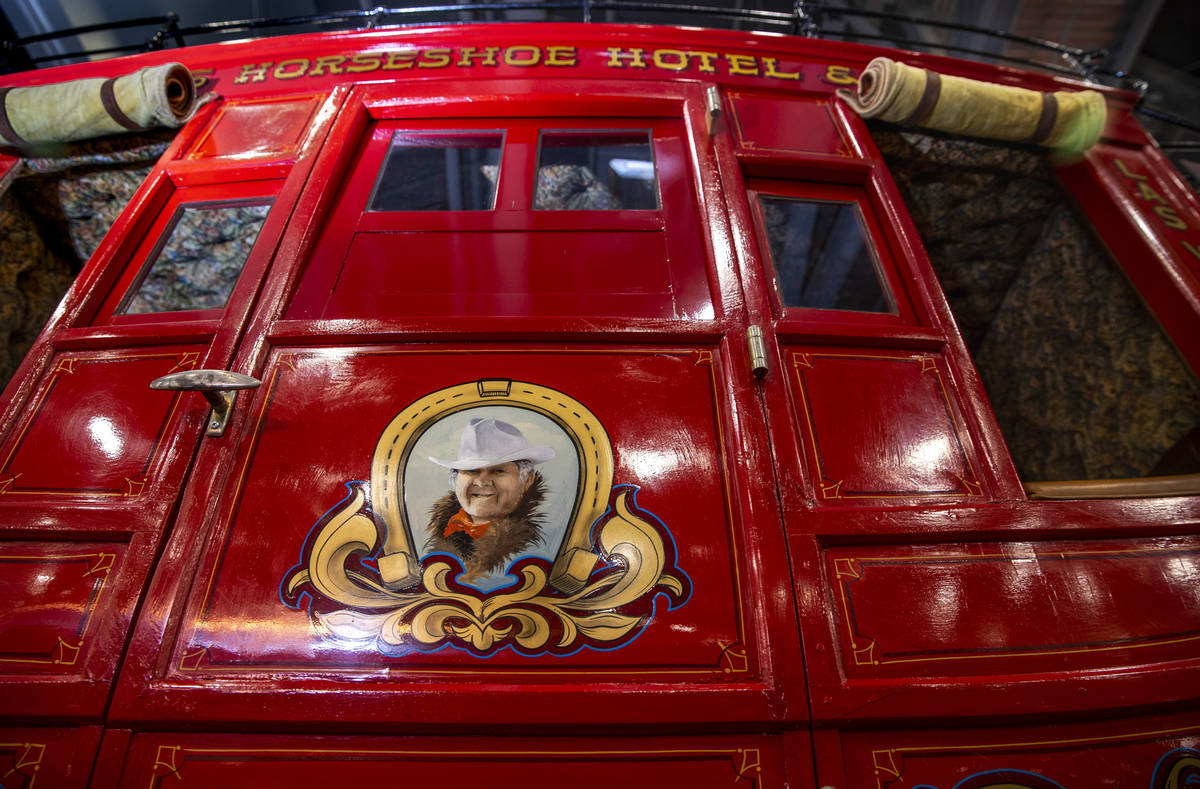A 1981 Benny BinionÕs family stagecoach replica up for sale during the Barrett-Jackson col ...