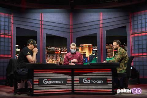 """Phil Hellmuth, left, and Daniel Negreanu play in the second round of their """"High Stakes Duel"""" a ..."""