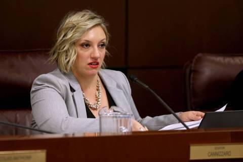 Sen. Nicole Cannizzaro, D-Las Vegas. (K.M. Cannon/Las Vegas Review-Journal) @KMCannonPhoto