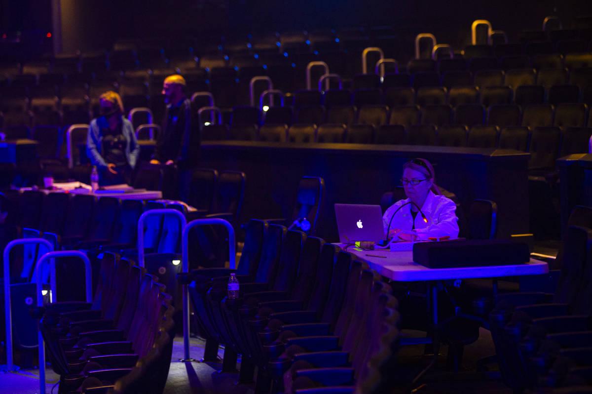 Diane Quinn, chief creative officer at Cirque du Soleil Entertainment Group,ʷorks on a la ...