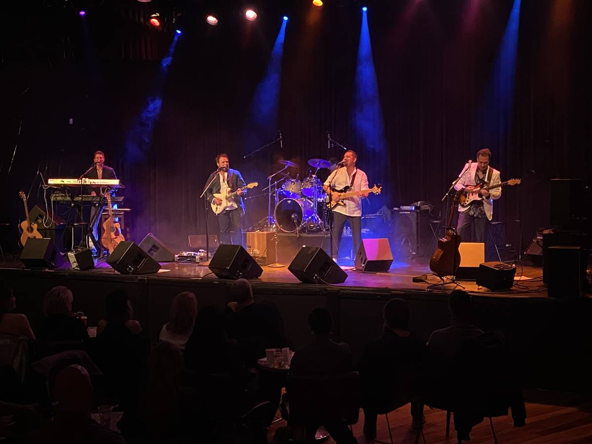 The Windjammers yacht rock band performs at Rocks Lounge at Red Rock Resort on Thursday, Jan. 2 ...