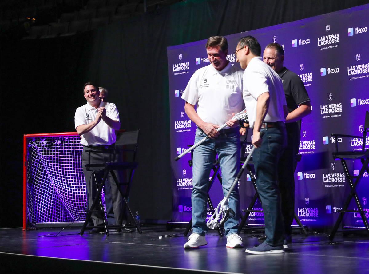 Joe Tsai, businessman and owner of the Brooklyn Nets as well as the Las Vegas Lacrosse team, sh ...