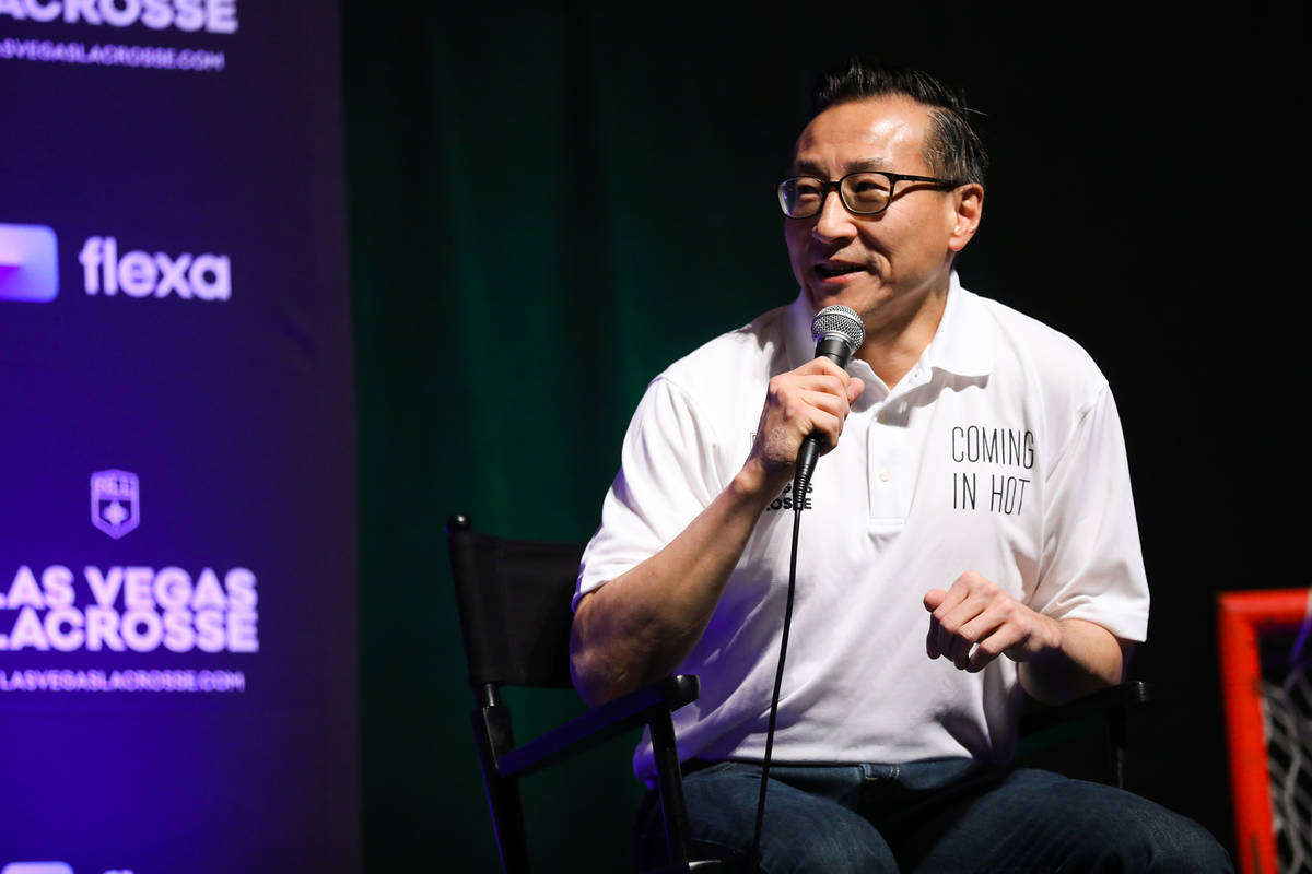 Joe Tsai, businessman and owner of the Brooklyn Nets and now part owner of the Las Vegas Lacros ...