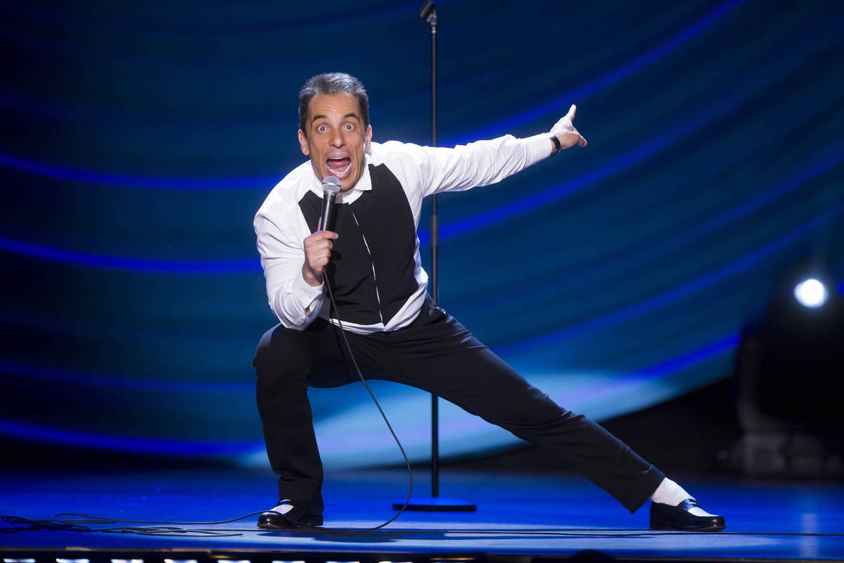 Sebastian Maniscalco is shown at the Beacon Theater in New York on May 6, 2016. (Todd Rosenberg ...