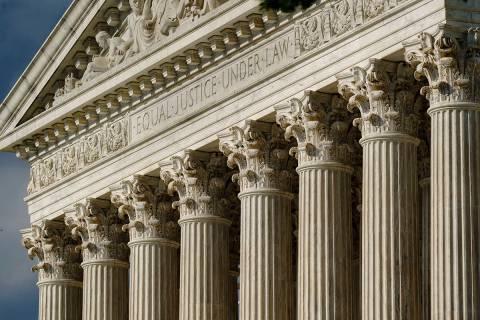 This June 8, 2021, file photo shows the Supreme Court in Washington. (AP Photo/J. Scott Applewh ...