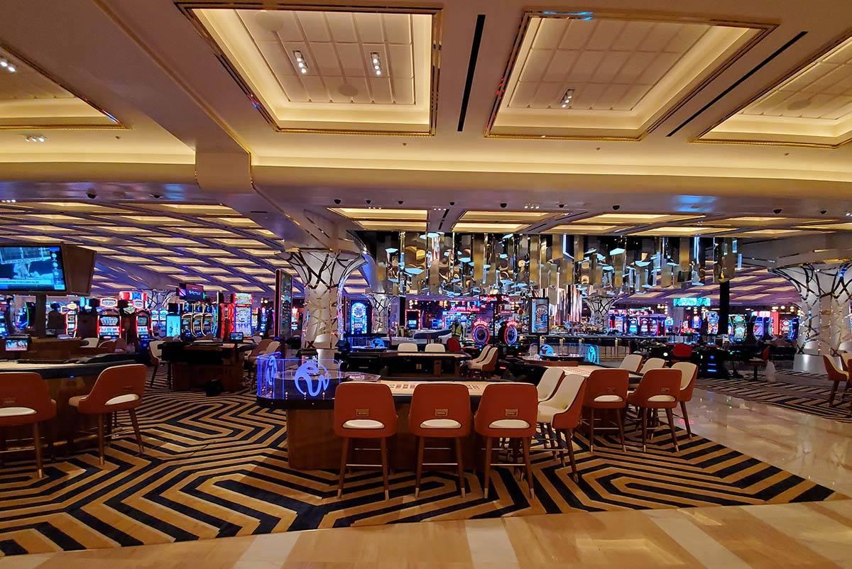 Resorts World Las Vegas casino floor. (Chase Stevens/Las Vegas Review-Journal) @csstevensphoto