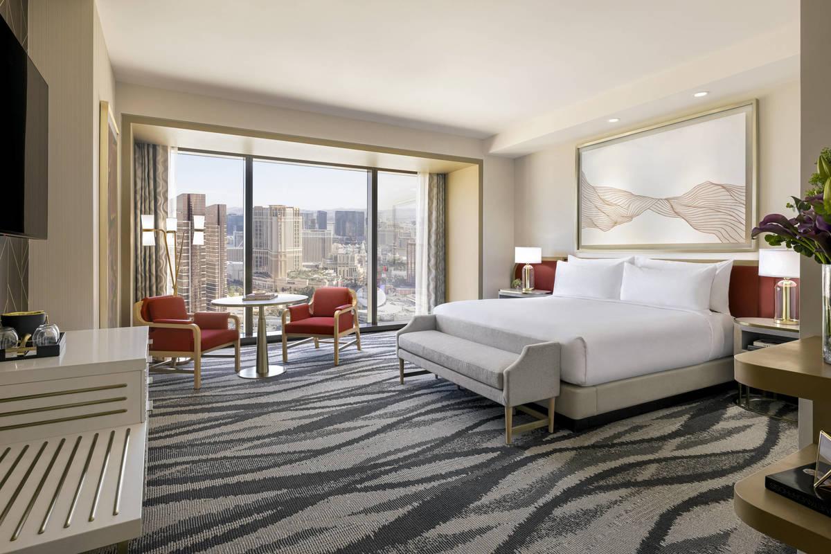 Resorts World Las Vegas Conrad Typical King Bedroom. (Resorts World Las Vegas)