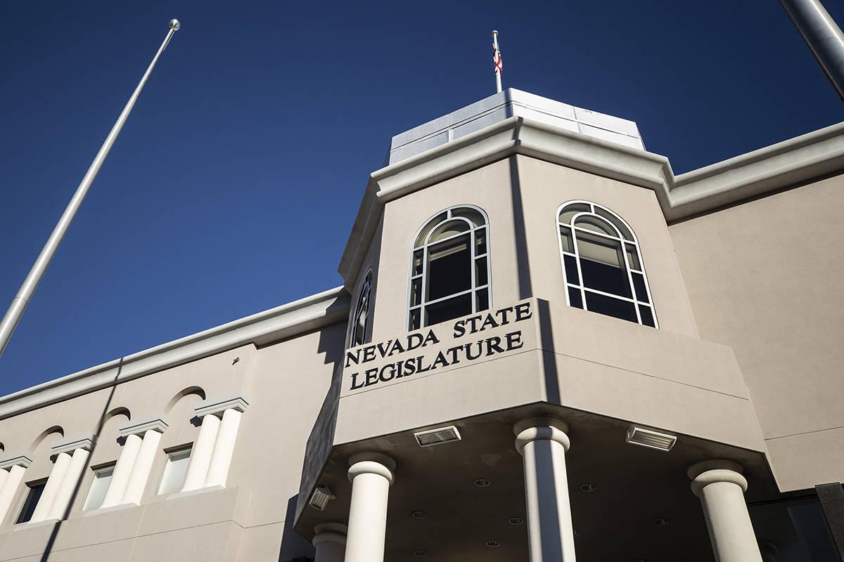The Nevada State Legislature Building in Carson City, Nev. (Benjamin Hager/Las Vegas Review-Jou ...