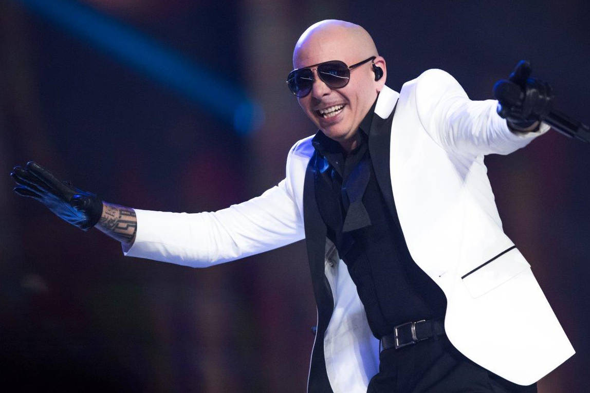 Pitbull performs during The Miss USA Pageant at Mandalay Bay Events Center on Sunday, May 14, 2 ...