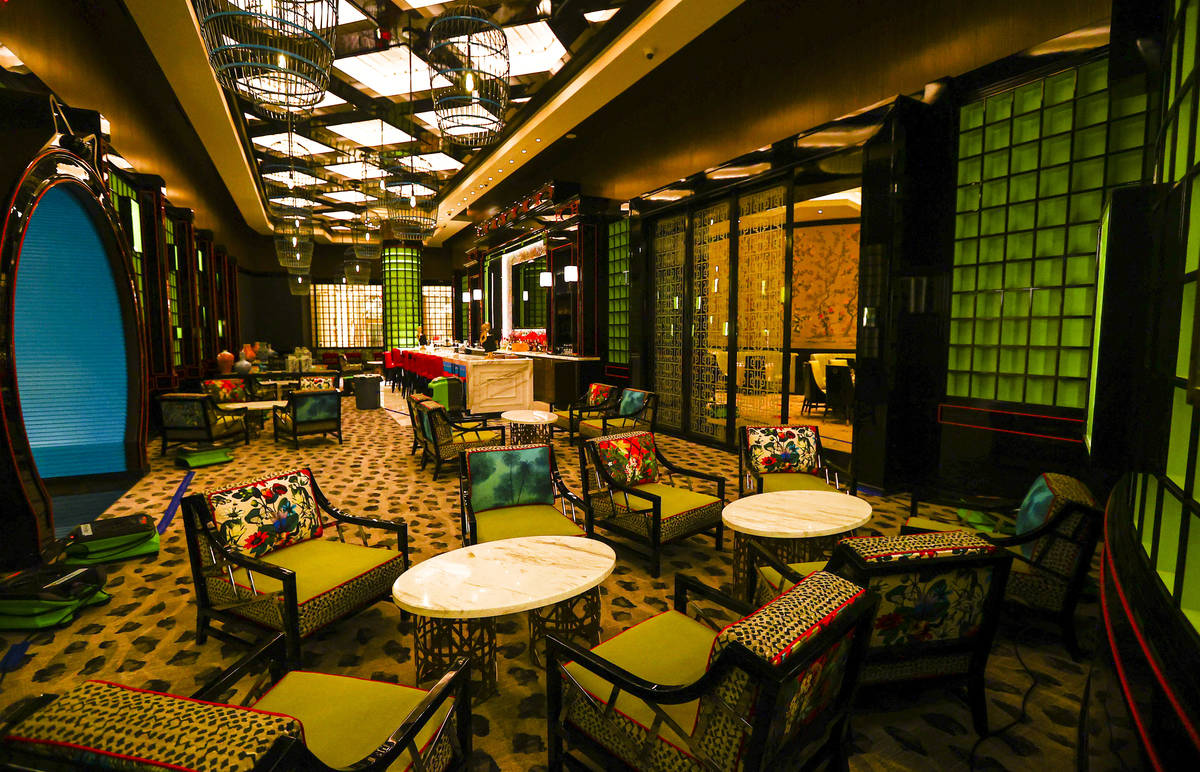 A view of the Genting Palace restaurant is seen during a tour of Resorts World ahead of its ope ...