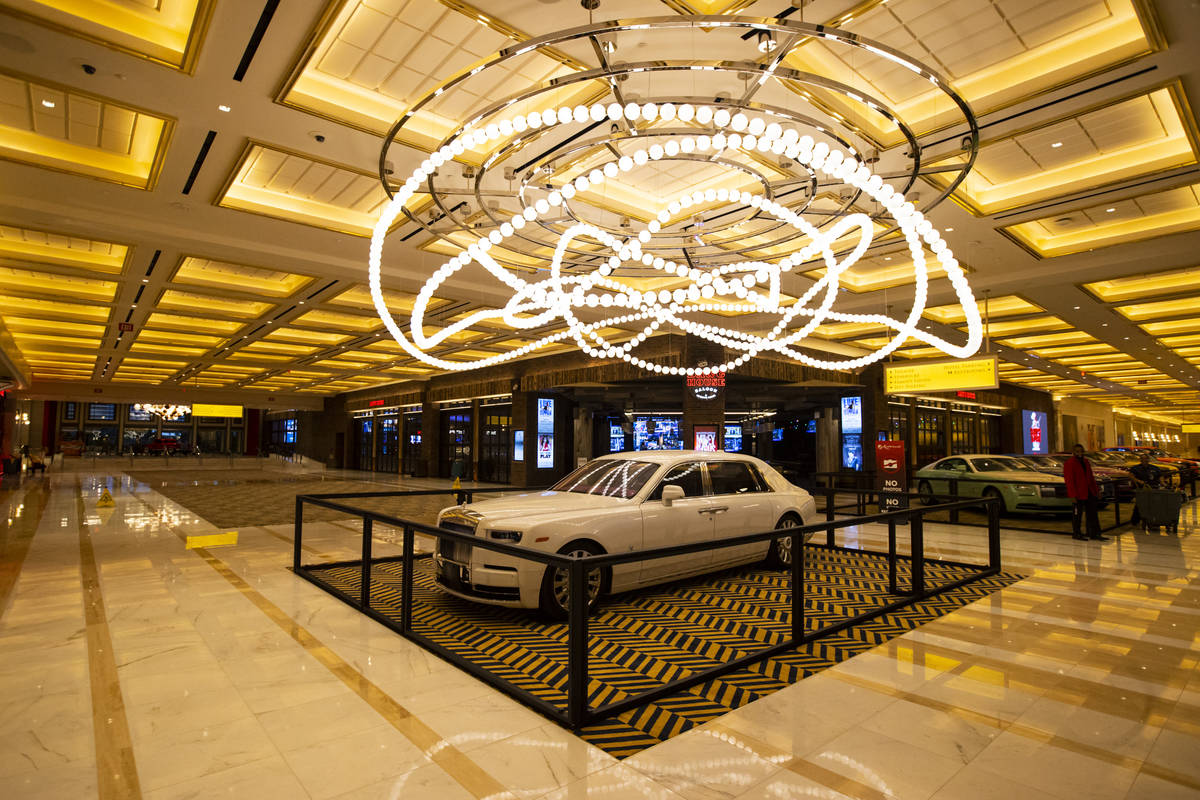 A Rolls-Royce Phantom is seen during a tour of Resorts World ahead of its opening in Las Vegas ...