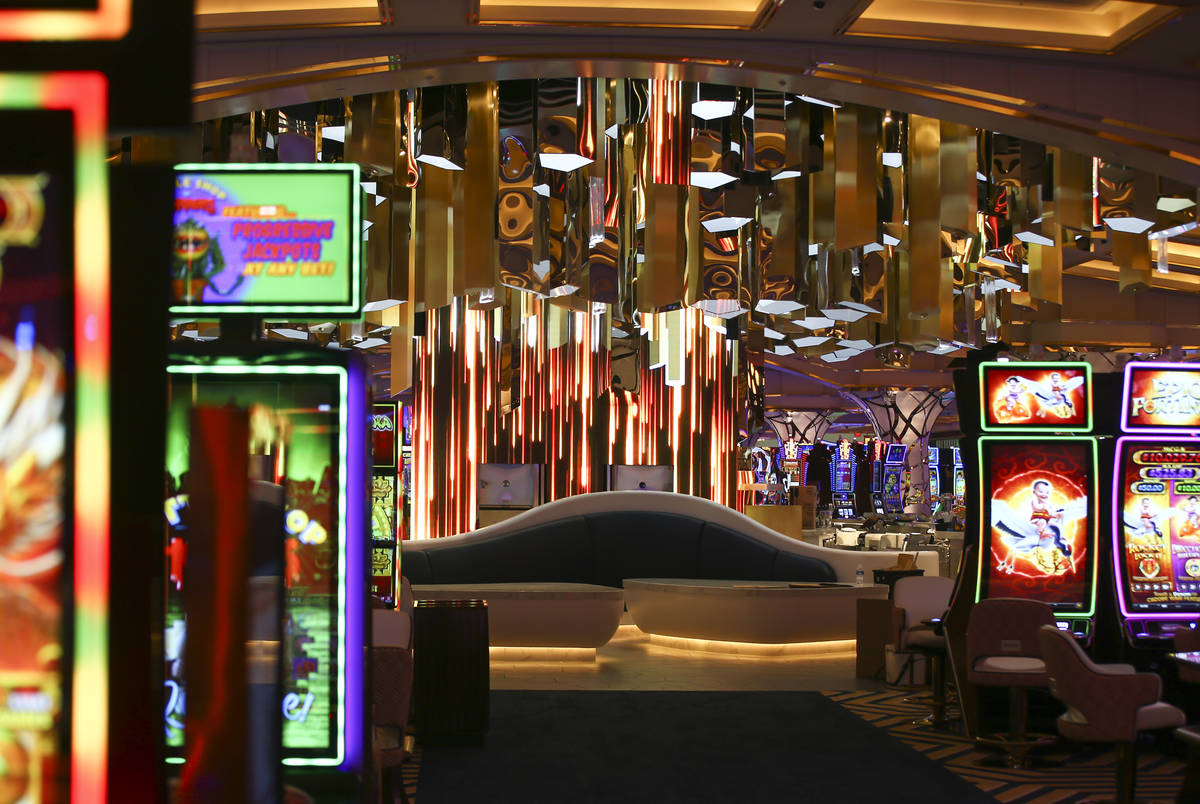 A view of the casino floor is seen during a tour of Resorts World ahead of its opening in Las V ...