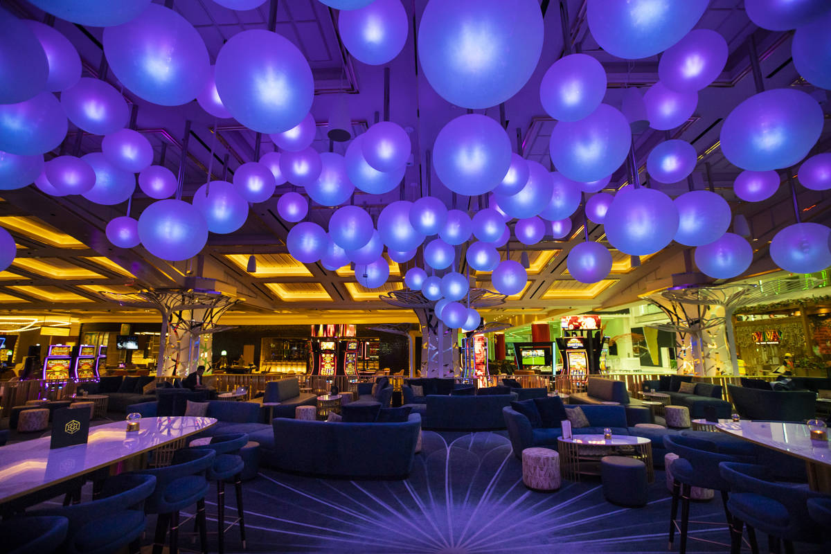 A view of Gatsby's cocktail lounge during a tour of Resorts World ahead of its opening in Las V ...