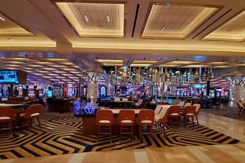 Resorts World Las Vegas casino floor on Wednesday, June 23, 2021. (Chase Stevens/Las Vegas Revi ...