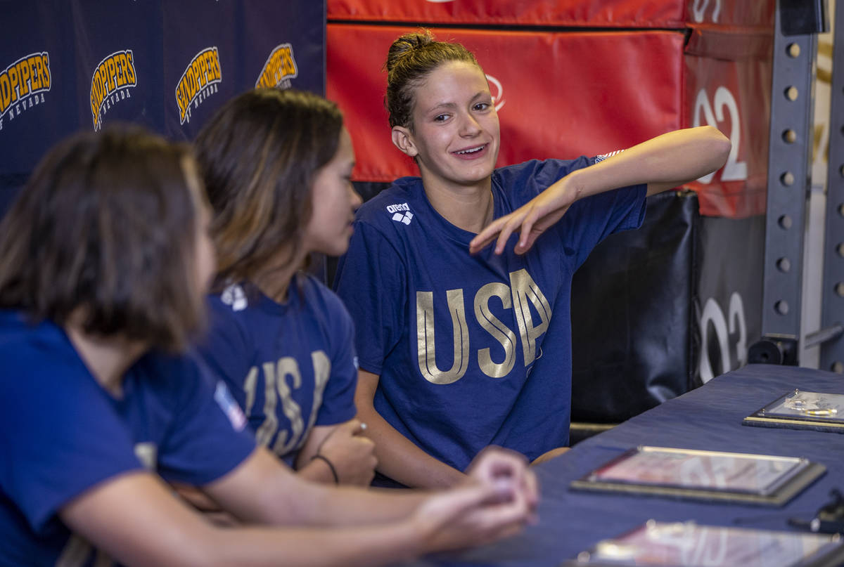 Las Vegas' Olympic swimmers talk about making U.S. team ...