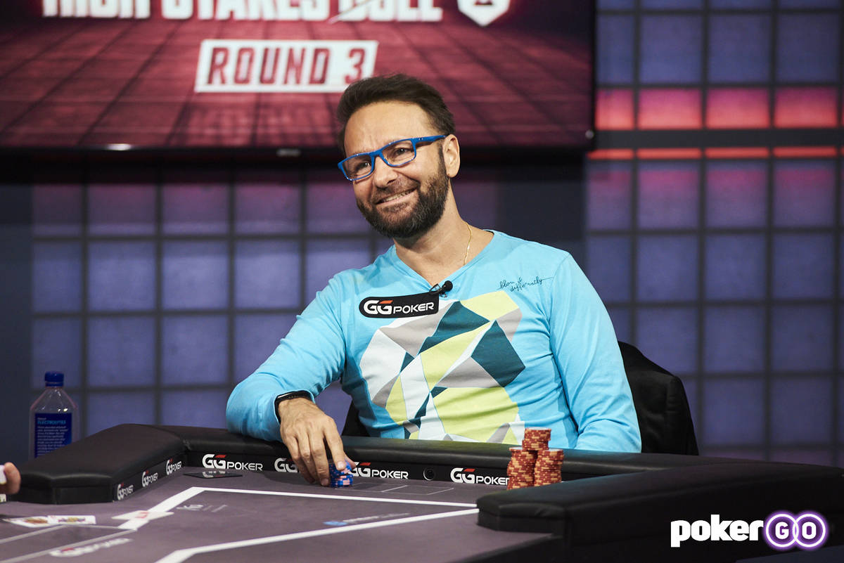 """Daniel Negreanu plays in the third round of his """"High Stakes Duel"""" with Phil Hellmuth on Wednes ..."""
