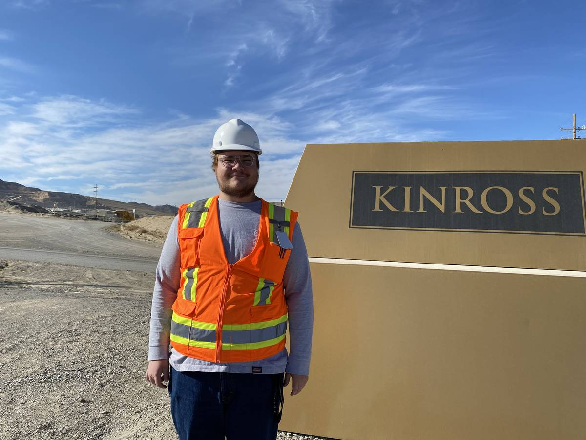 UNLV student Joseph Kolibar, 22, is doing a 10-week summer internship with the Nevada Mining As ...